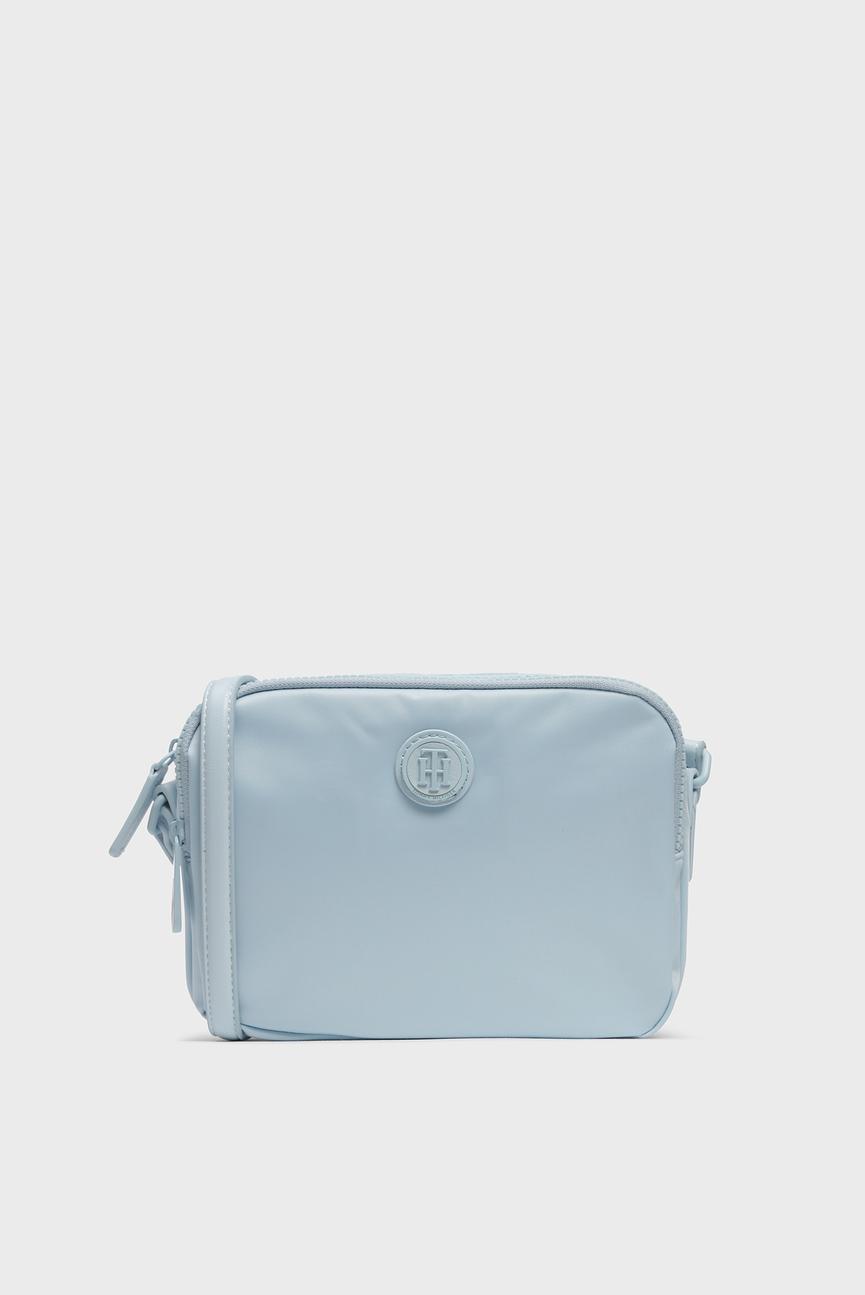 Женская голубая сумка через плечо POPPY