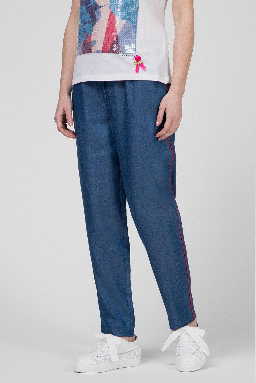 Женские синие брюки ERMANNO
