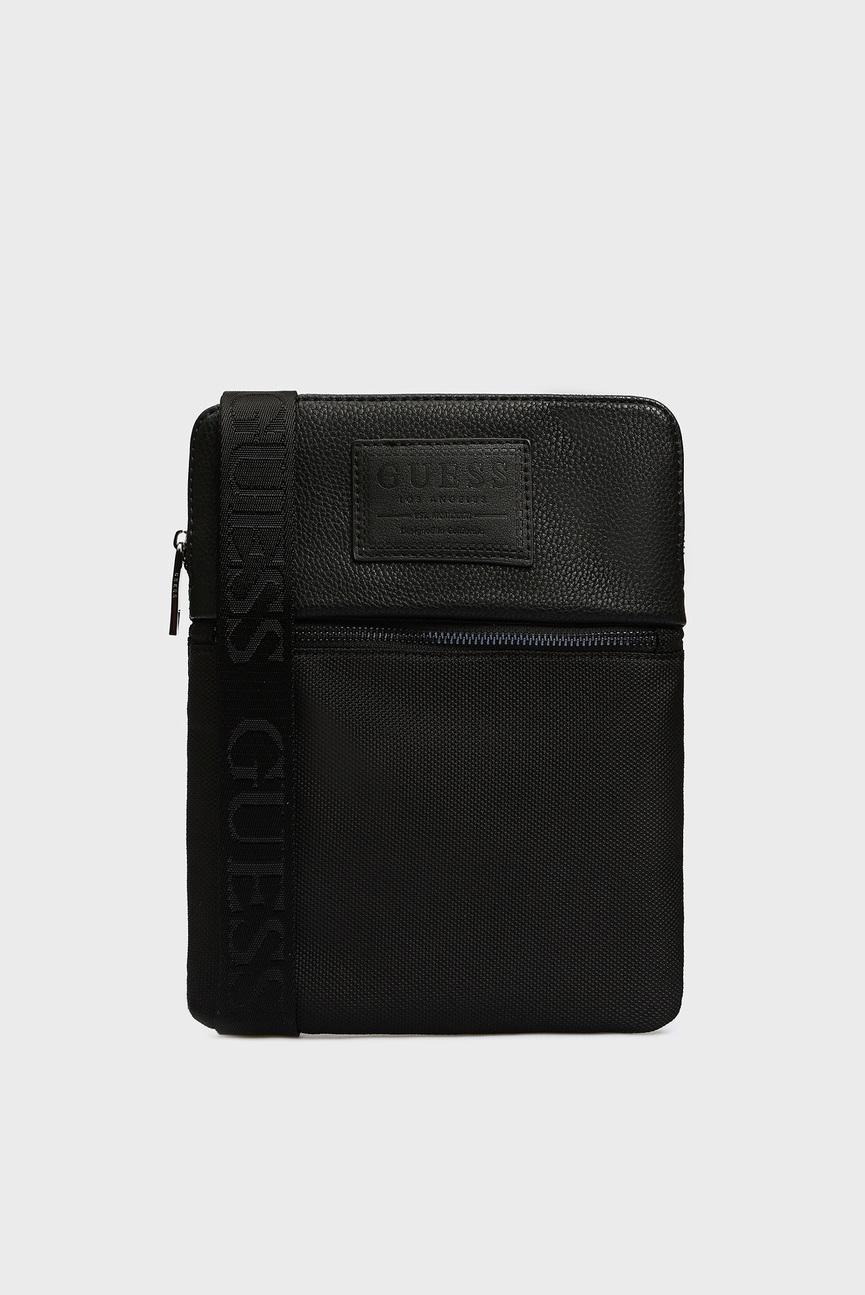 Мужская черная сумка через плечо NEW PHIL