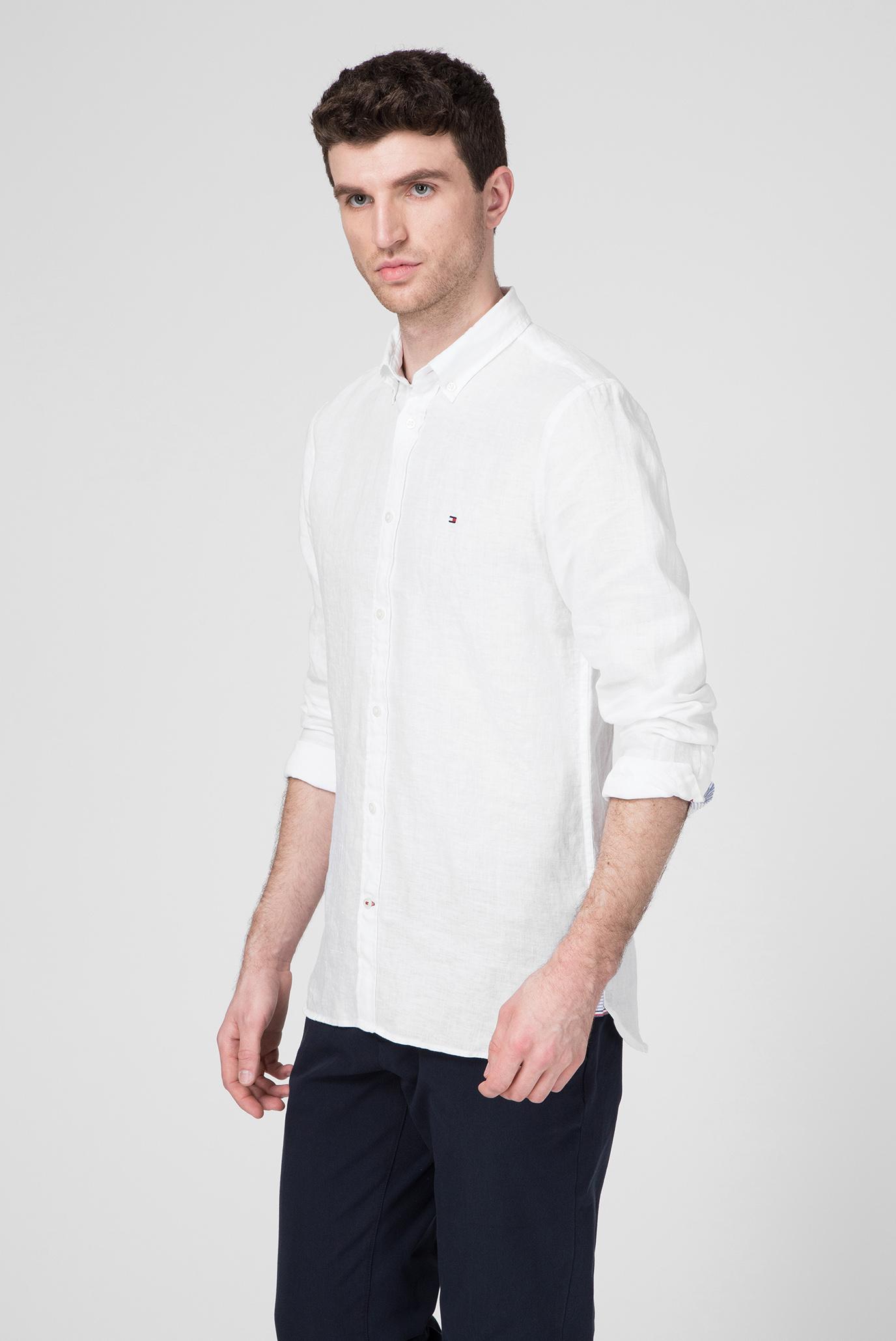 Чоловічі біла лляна сорочка Tommy Hilfiger