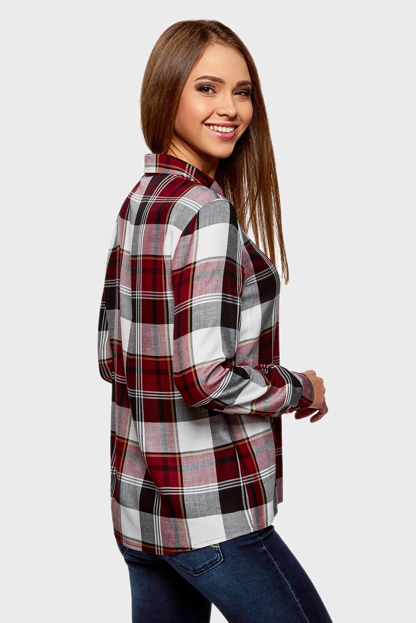 Купить Женская красная рубашка в клетку Oodji Oodji 11411098/45208/4929C – Киев, Украина. Цены в интернет магазине MD Fashion