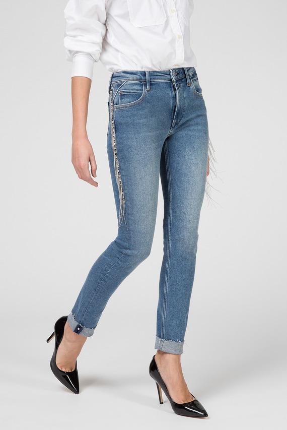 Женские голубые джинсы JACKSY