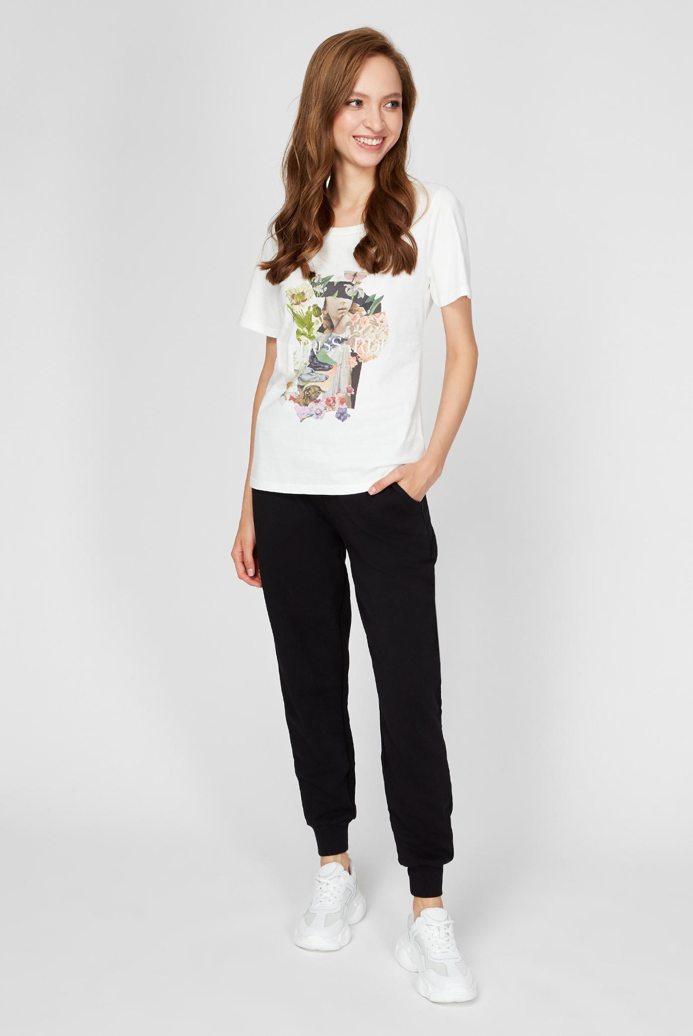 Женские бордовые спортивные брюки Trussardi Jeans