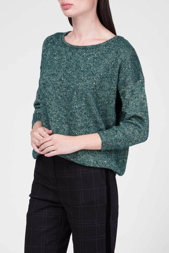 Женский зеленый свитер