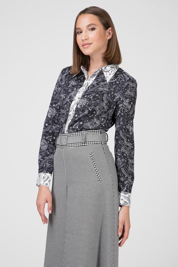 Женская черная блуза с принтом ZENDAYA AF COLLAR