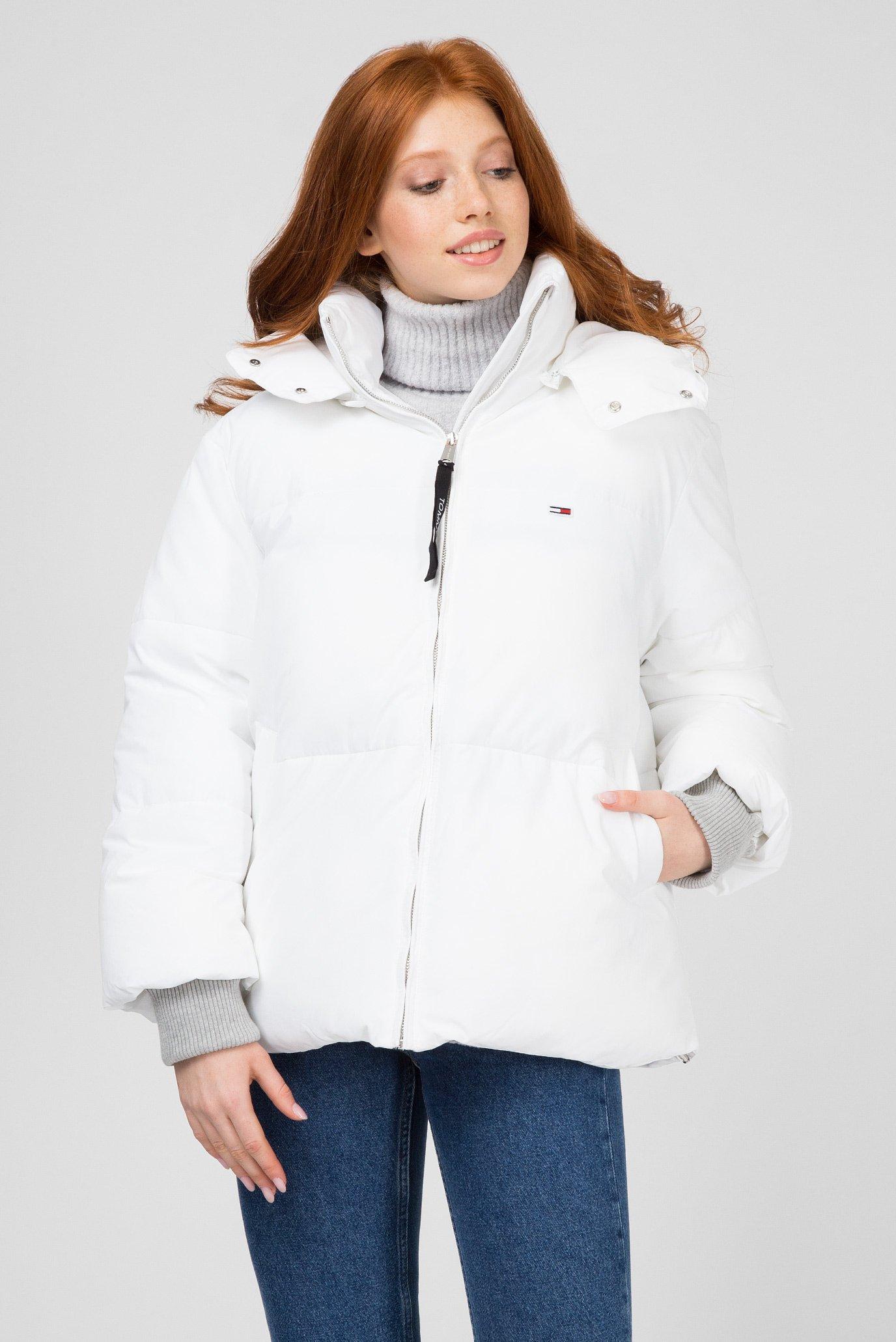 fa8fb14c125 Купить Женская белая куртка Tommy Hilfiger Tommy Hilfiger DW0DW05183 –  Киев
