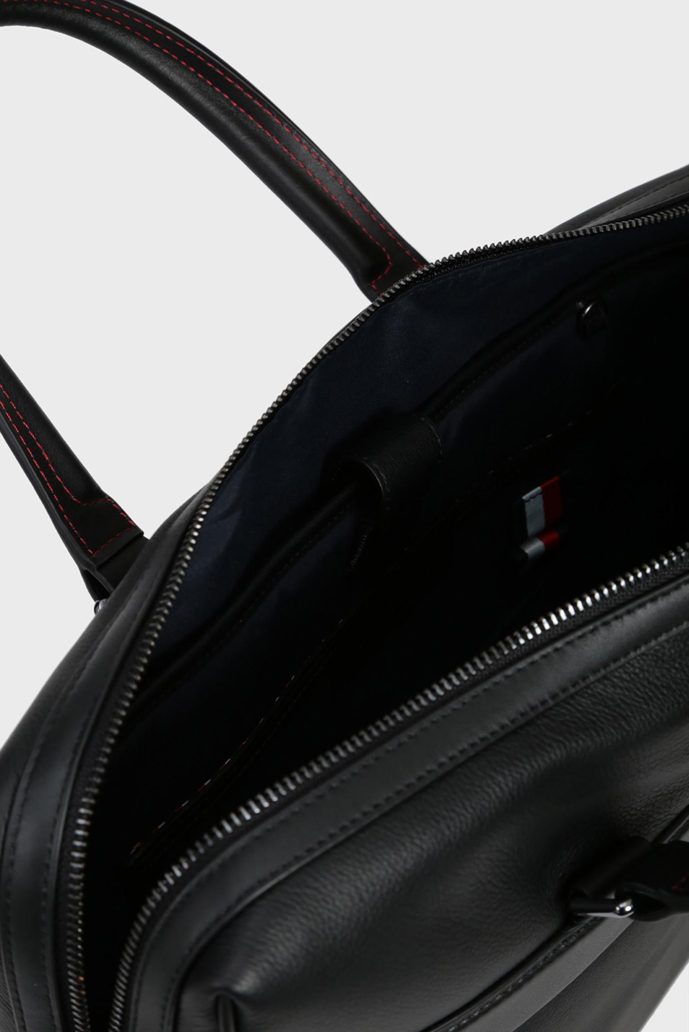 Мужская черная кожаная сумка для ноутбука TH LEATHER COMPUTER BAG Tommy Hilfiger
