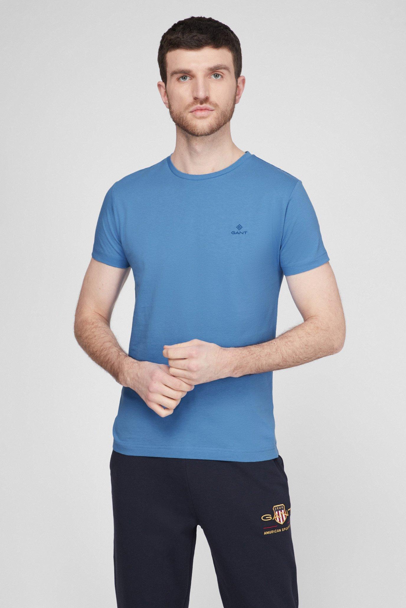 Мужская голубая футболка CONTRAST LOGO 1