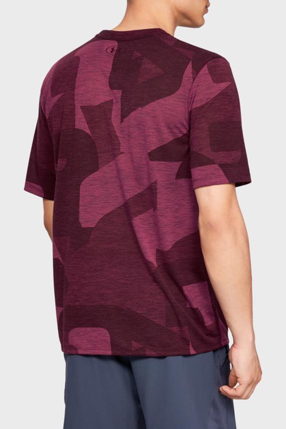 Мужская бордовая футболка UA Threadborne Print SS
