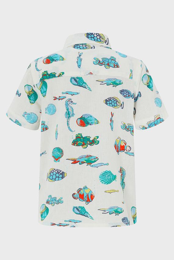 Детская бежевая рубашка Kaspian Fish
