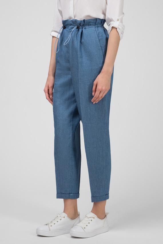 Женские голубые брюки CARO