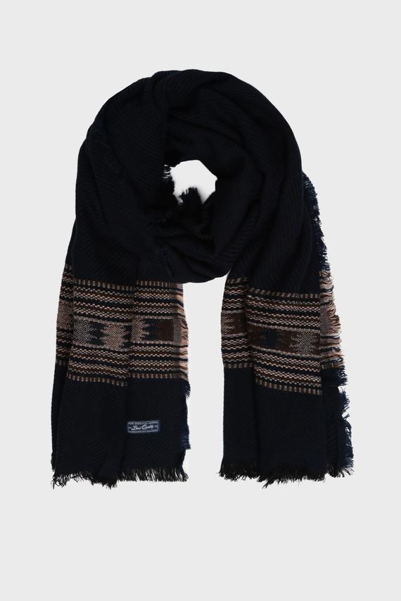 Мужской темно-синий шарф OSORNO
