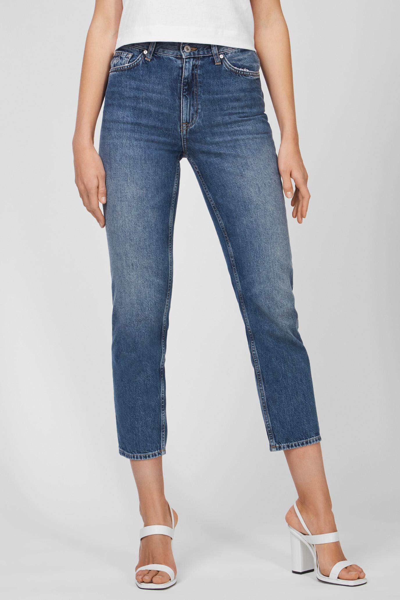 Женские синие джинсы STRAIGHT HW CROPPED 1