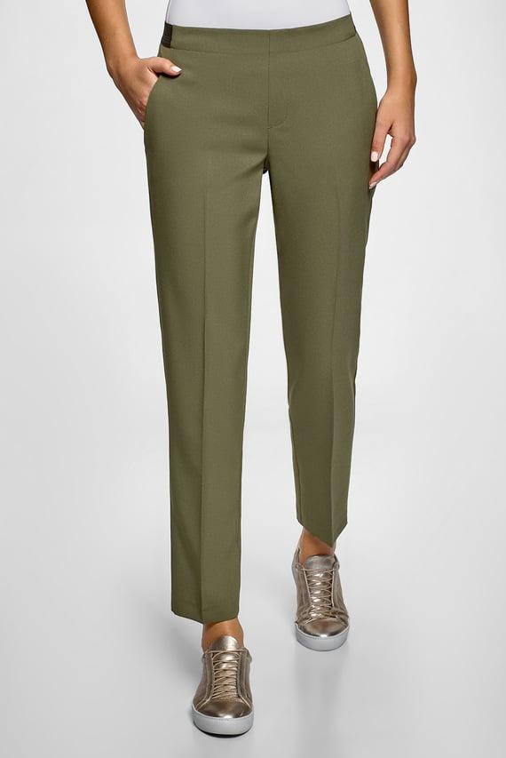 Женские зеленые брюки