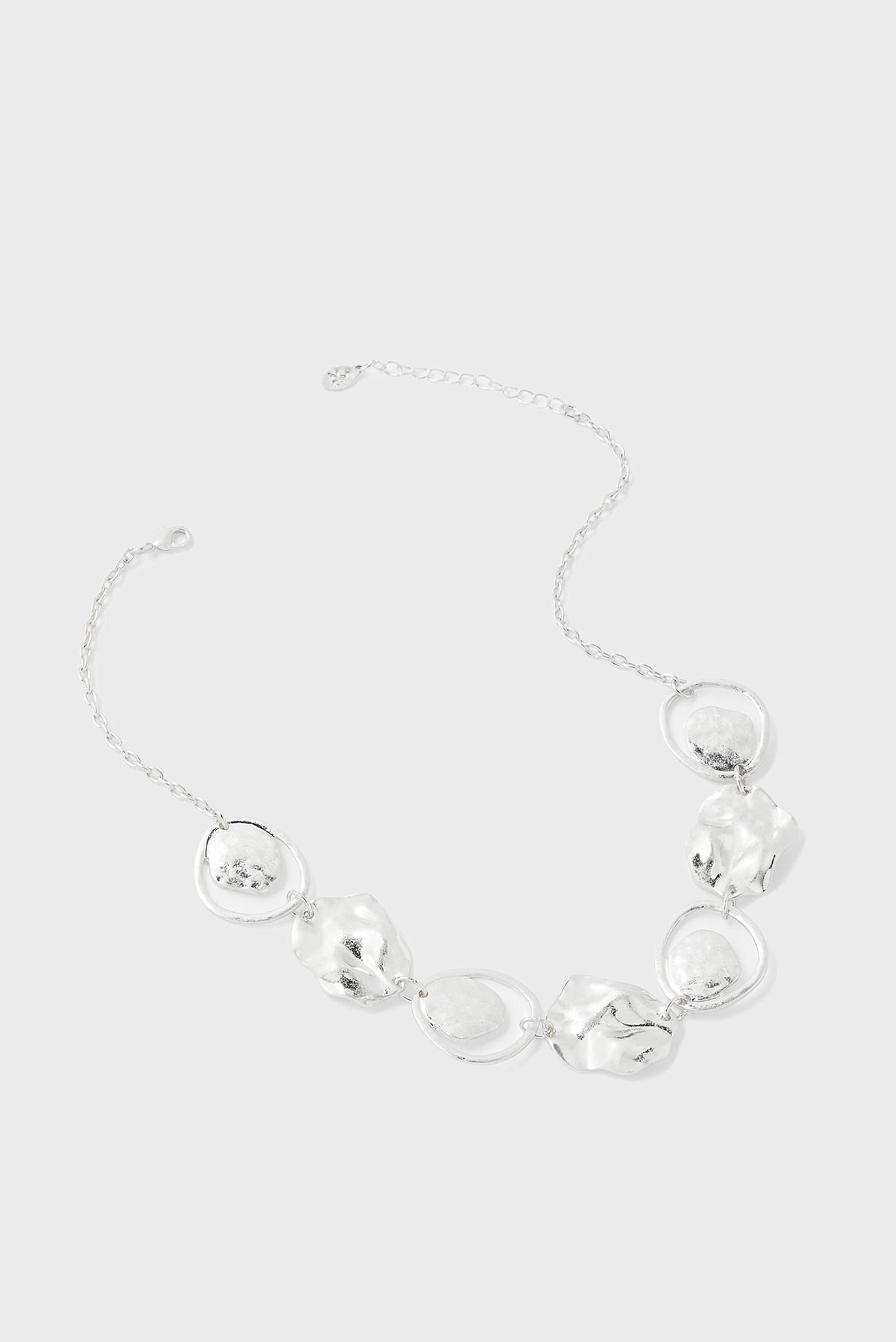 Жіноче сріблясте намисто 1