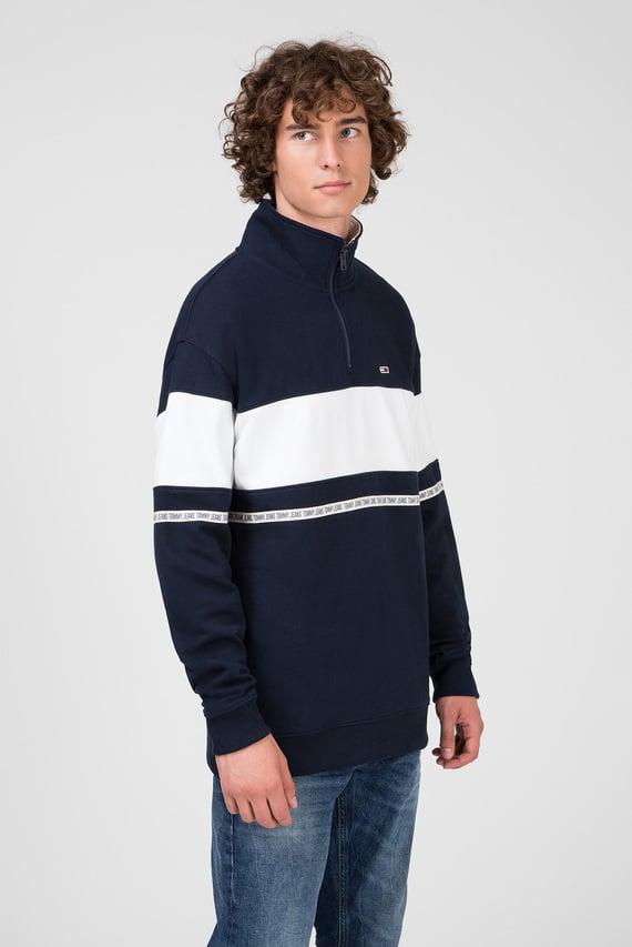 Мужская темно-синяя спортивная кофта TJM TAPE ZIP MOCK NECK