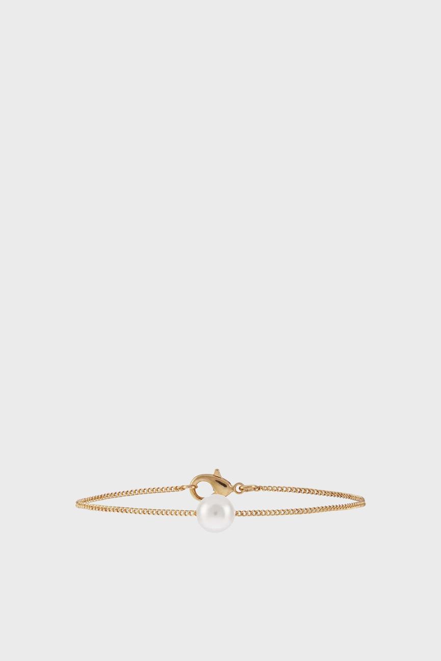 Женский золотистый браслет SIMPLE PEARL