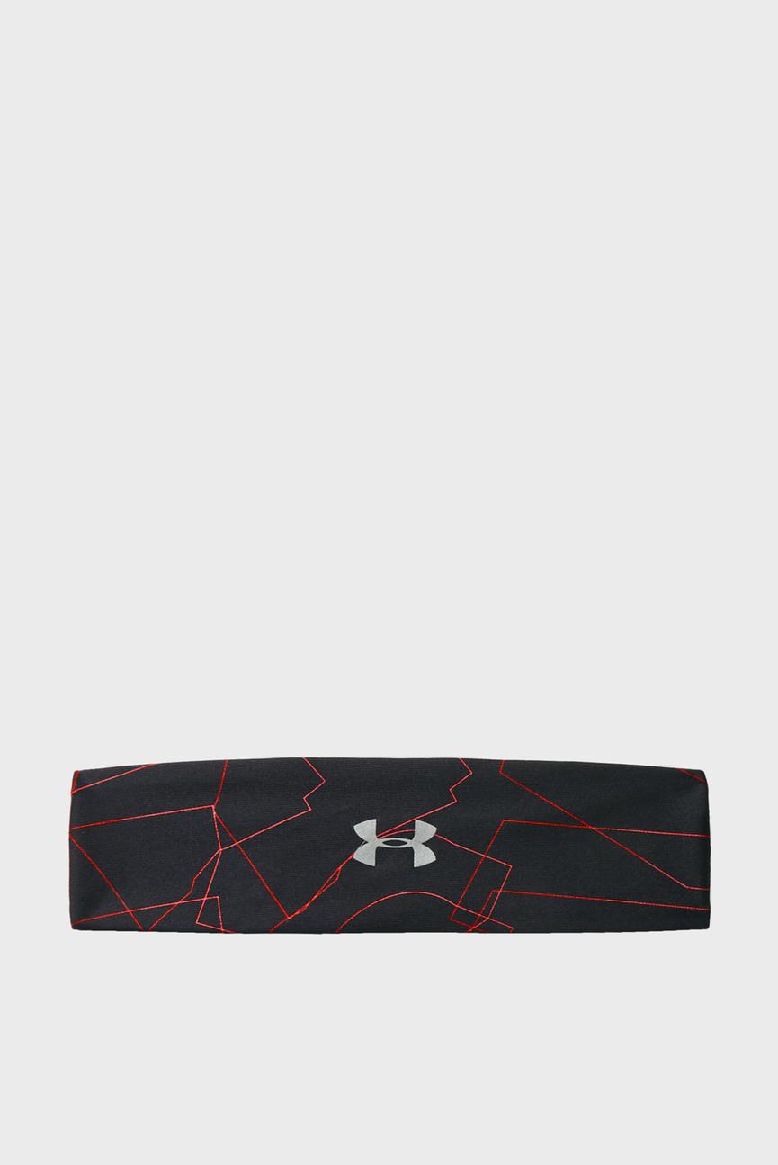 Женская черная повязка Run Graphic Headband