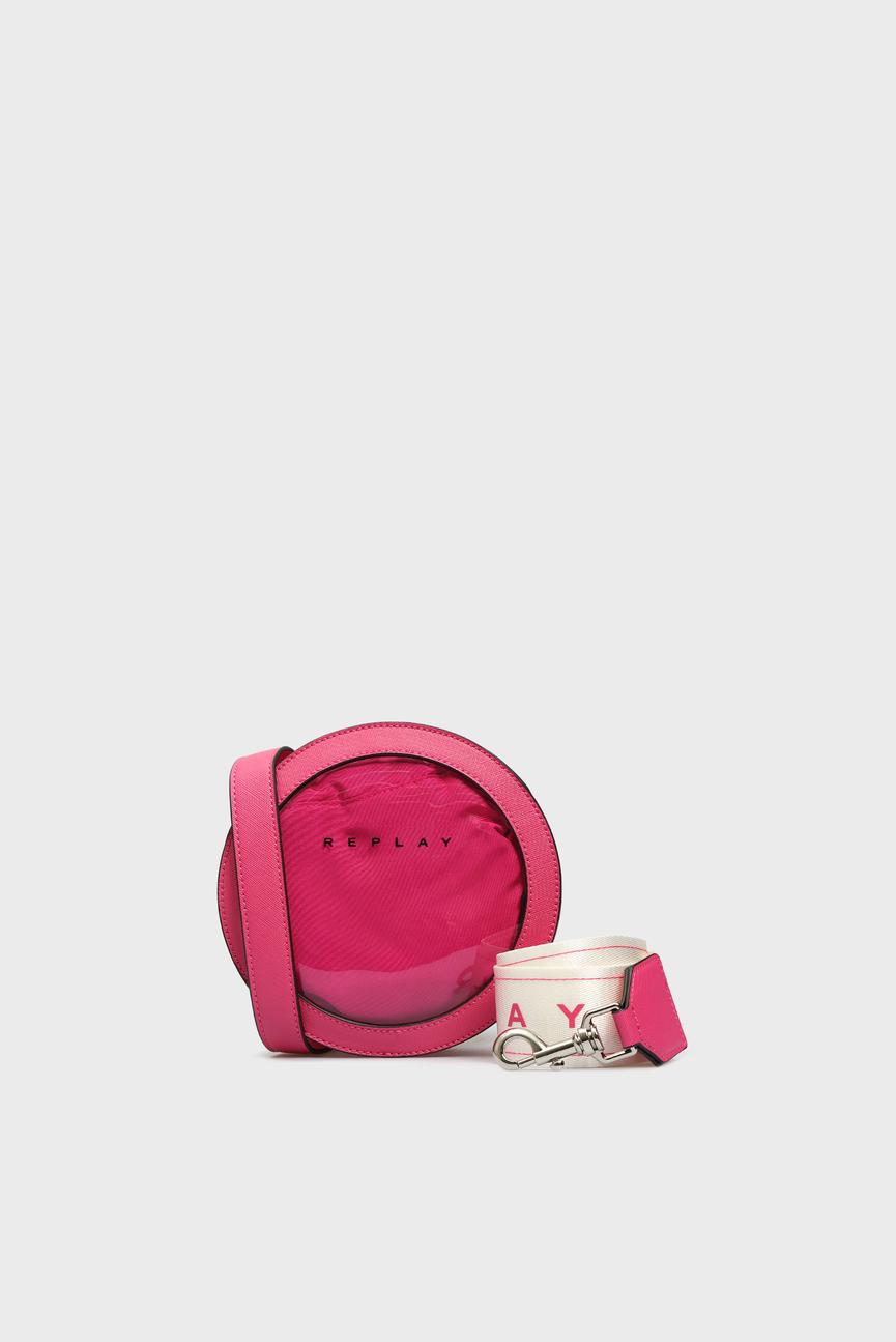Женская розовая сумка 2 в 1