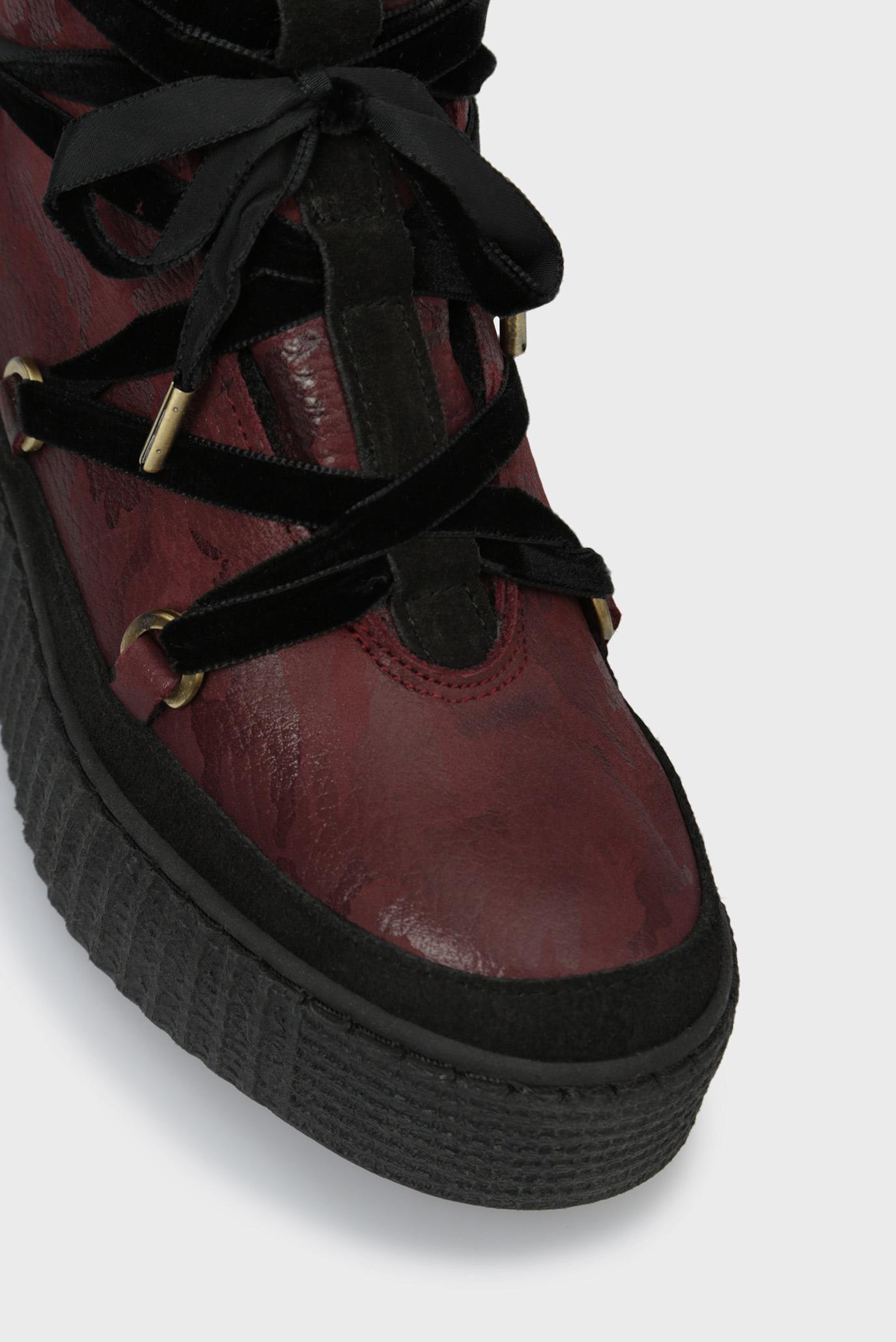 Купить Женские бордовые кожаные ботинки COZY WARMLINED Tommy Hilfiger Tommy Hilfiger FW0FW03436 – Киев, Украина. Цены в интернет магазине MD Fashion