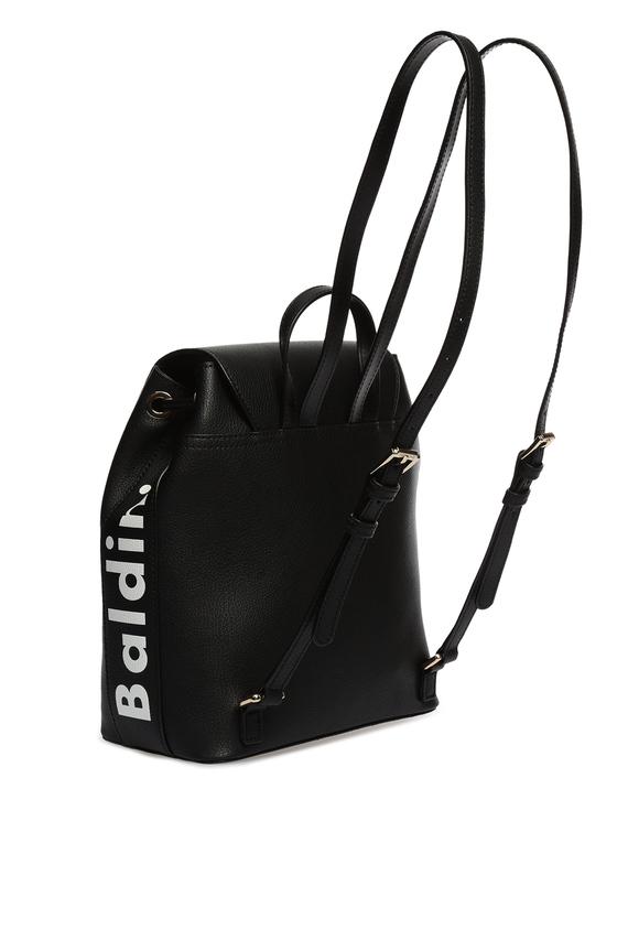 Женский черный кожаный рюкзак