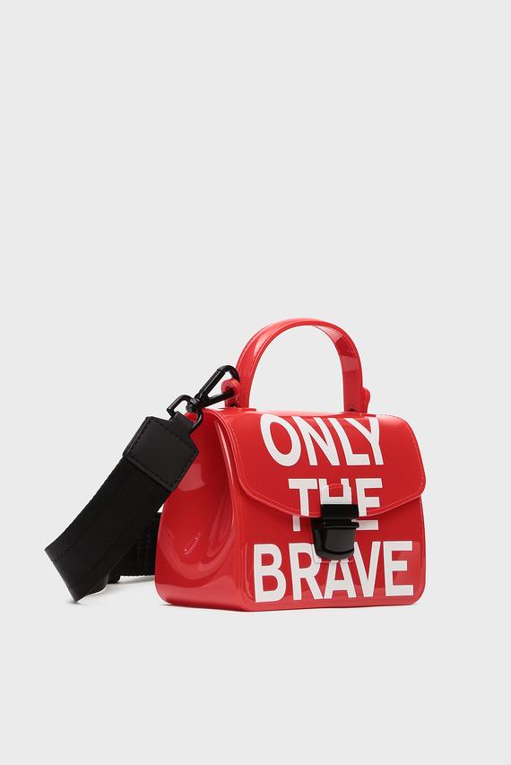 Женская красная сумка через плечо MISS-MATCH