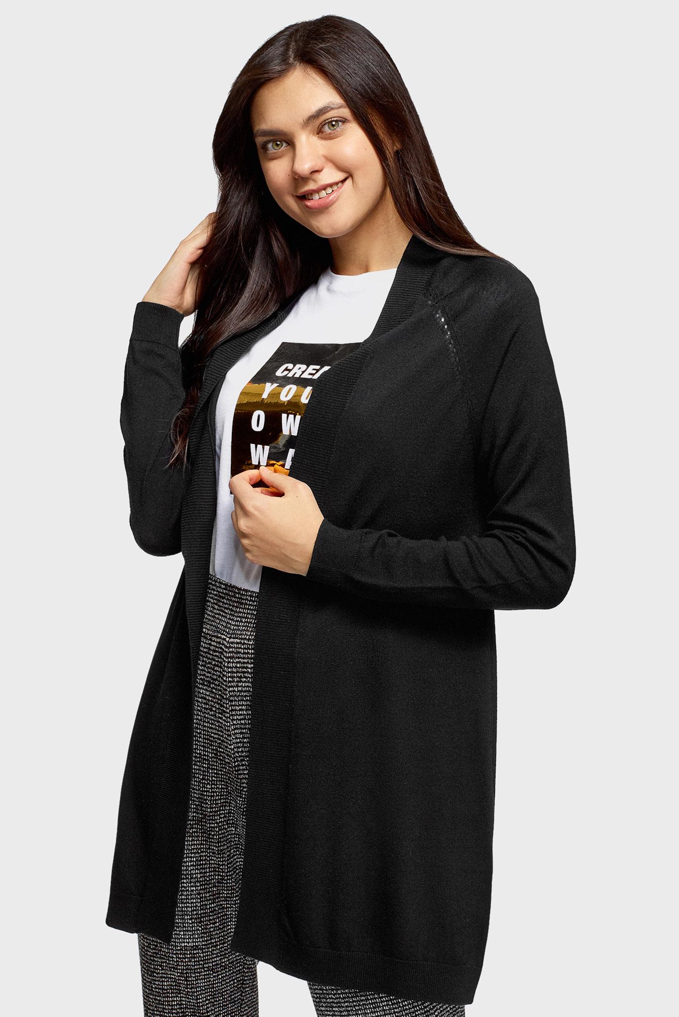 Женский черный кардиган 1