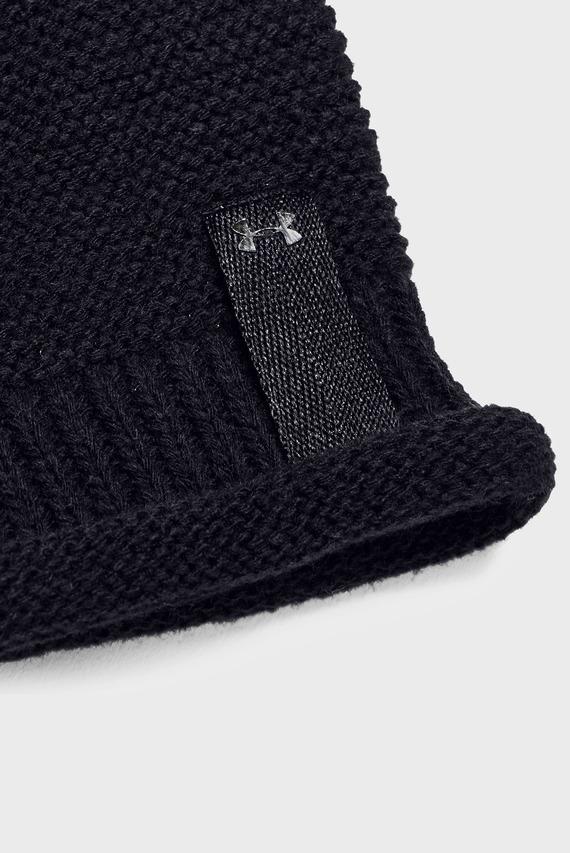 Женская черная шапка Essentials Pom Beanie