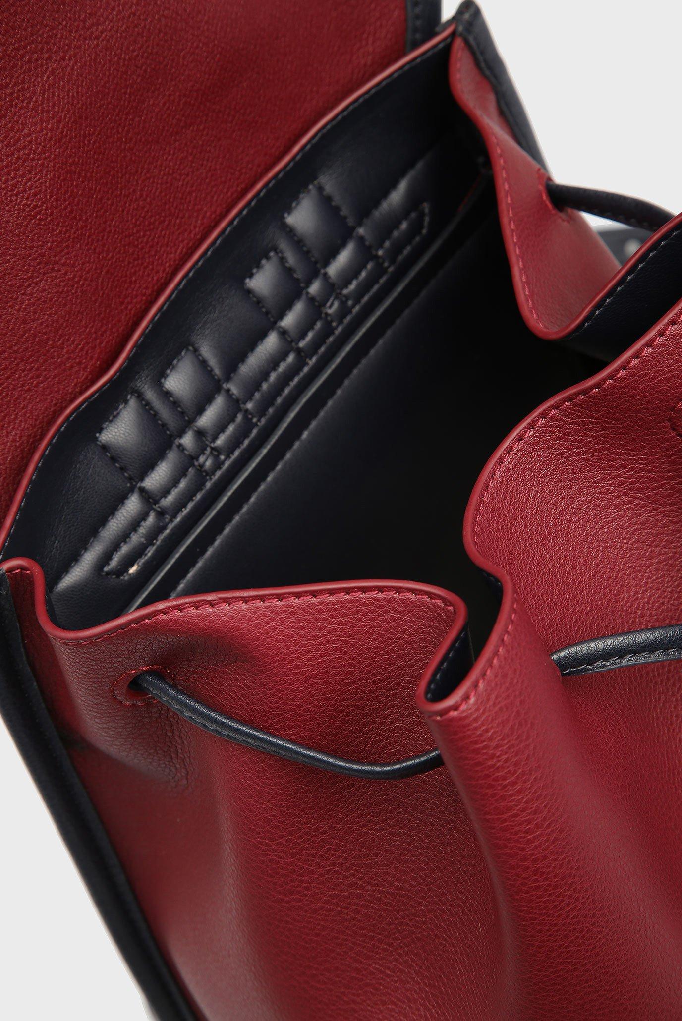 Купить Женский бордовый рюкзак CHAIN Tommy Hilfiger Tommy Hilfiger AW0AW05807 – Киев, Украина. Цены в интернет магазине MD Fashion