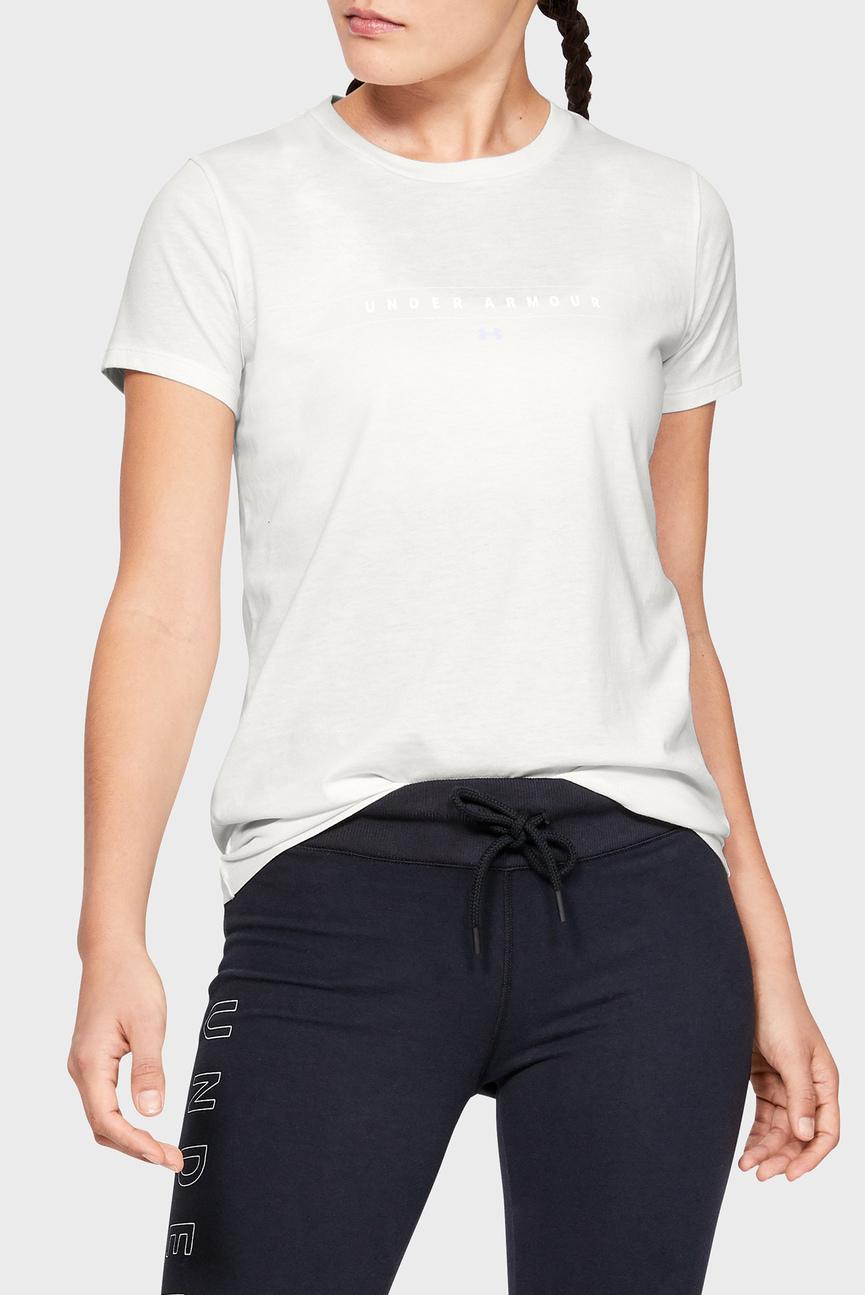 Женская белая футболка GRAPHIC WM CLASSIC CREW