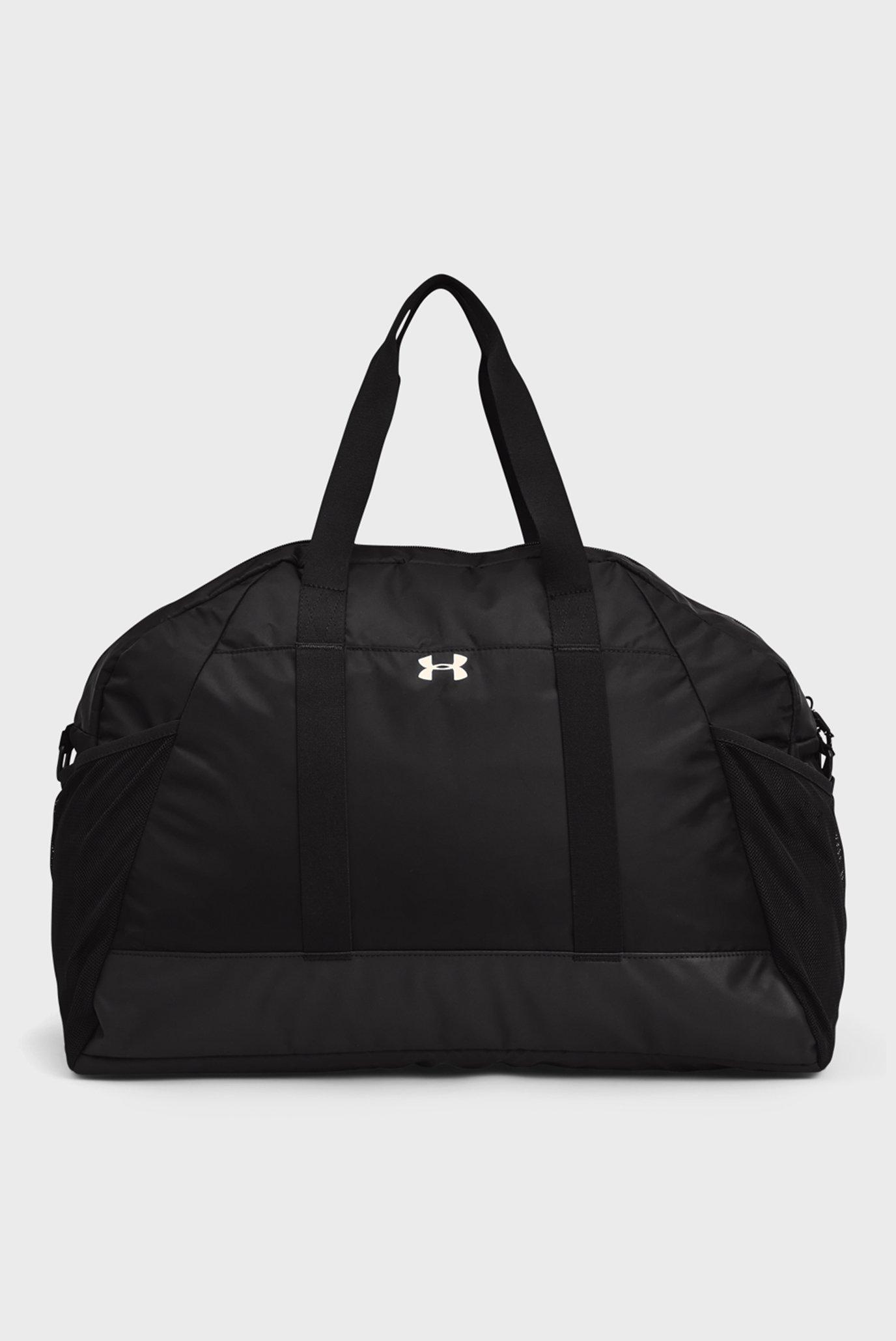 Женская черная спортивная сумка UA Project Rock Gym Bag-BLK 1