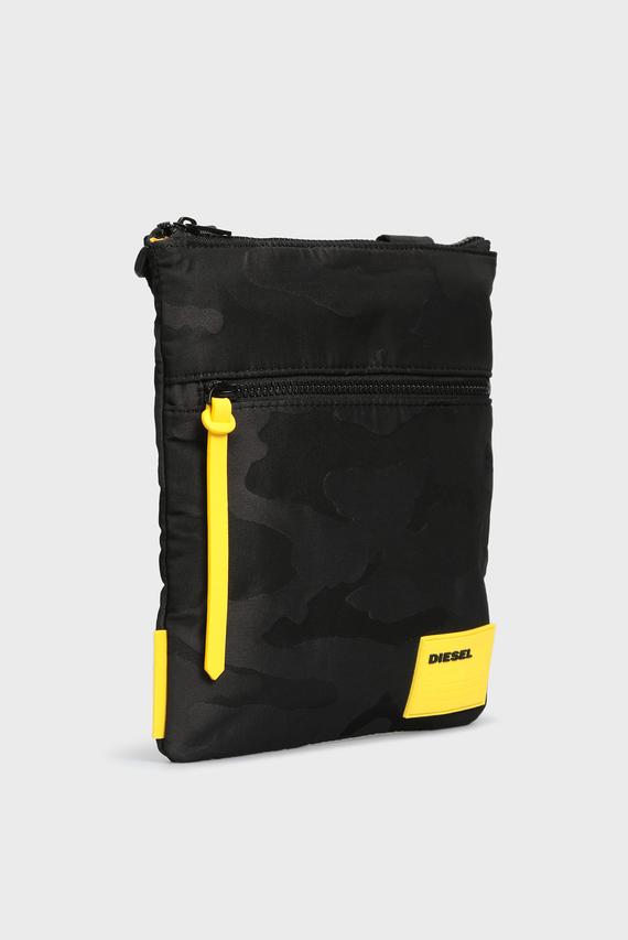 Мужская черная сумка через плечо DISCOVER-UZ