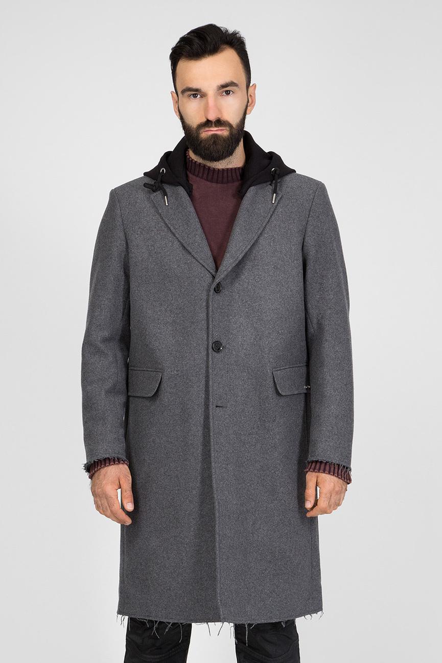 Мужское серое пальто W-DEXTER GIACCA