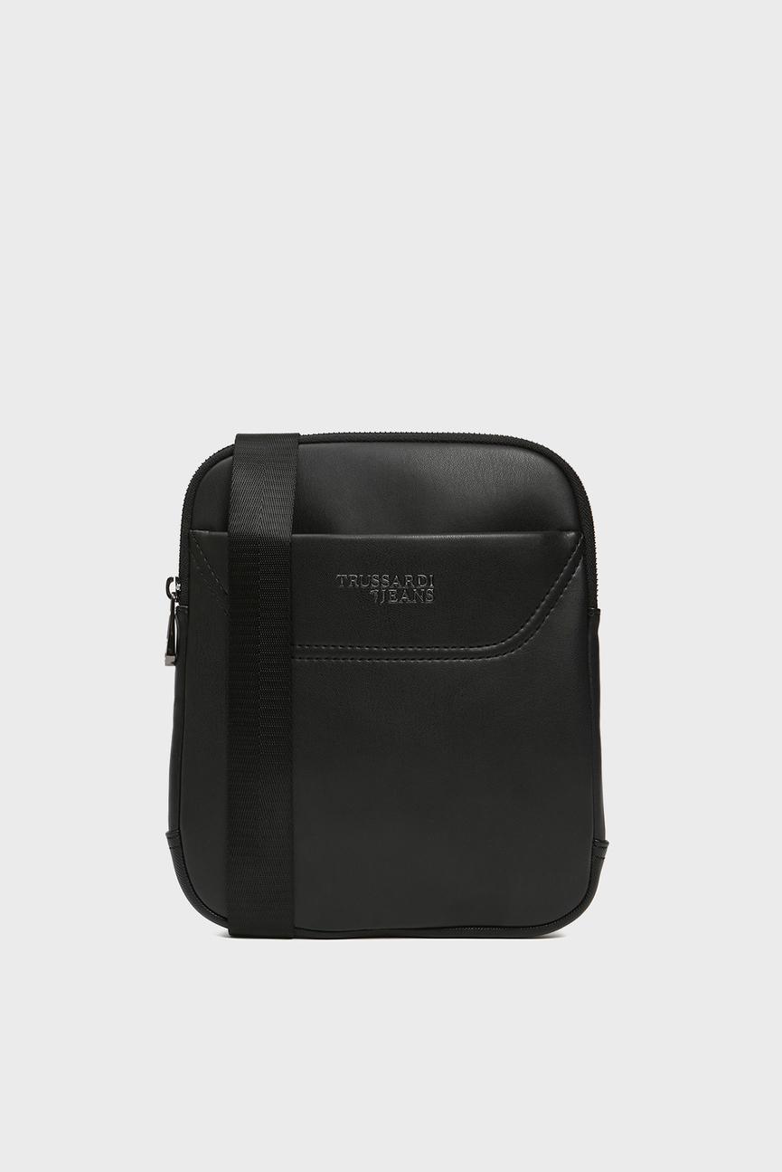 Мужская черная сумка через плечо BUSINESS CITY