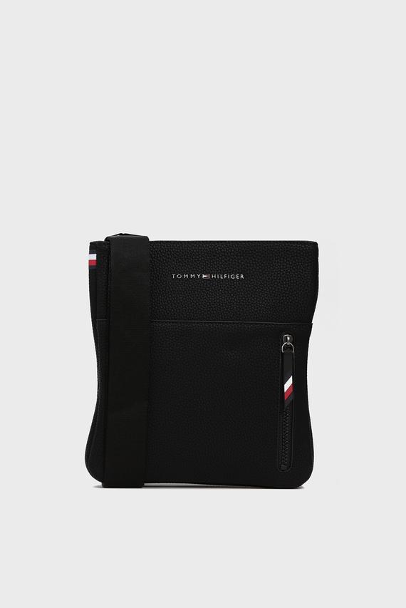 Мужская черная сумка через плечо ESSENTIA