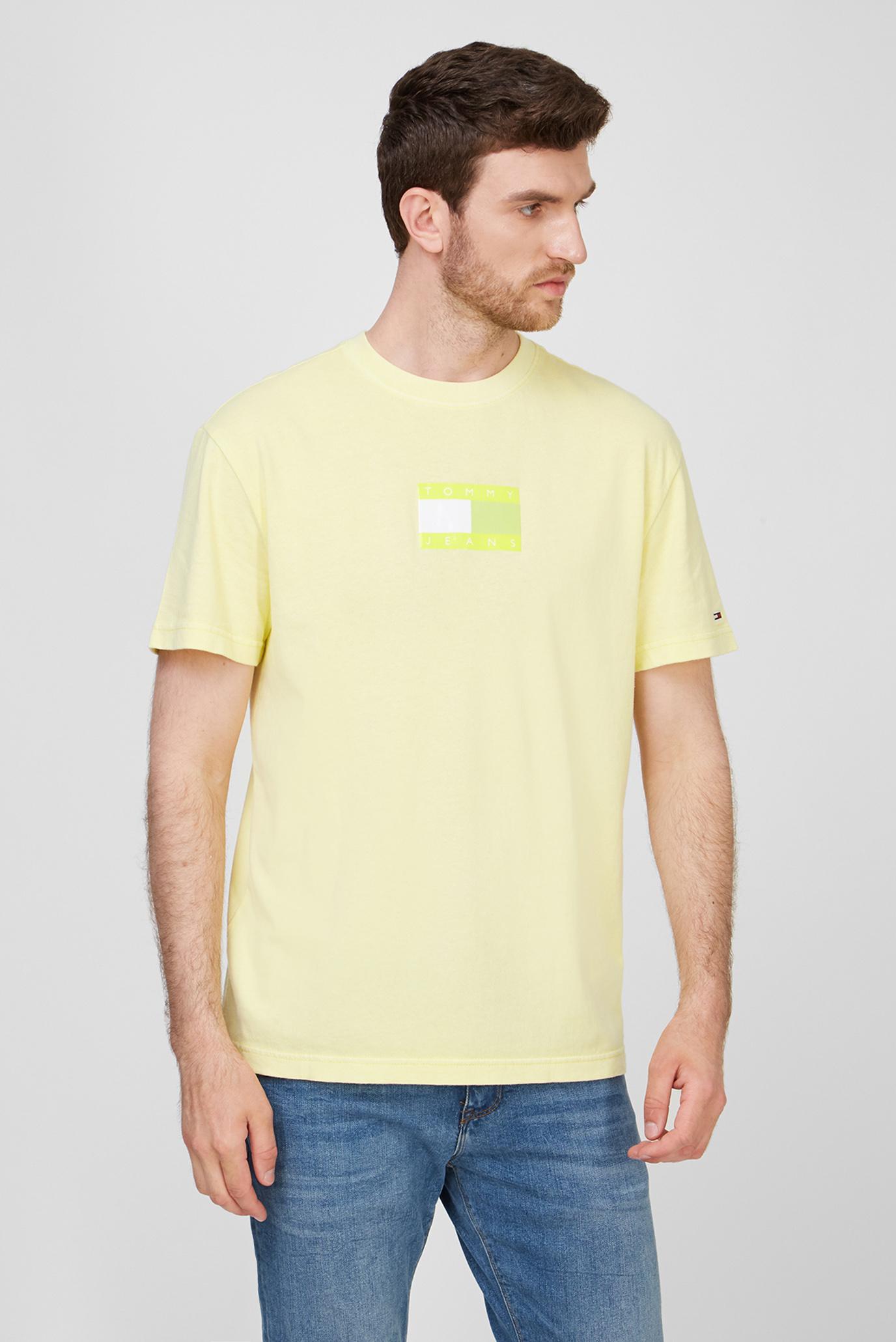 Мужская желтая футболка TJM TONAL FLAG 1
