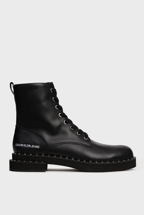 Мужские черные кожаные ботинки NOWELL