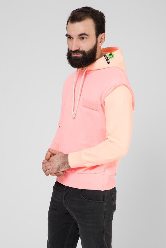 Мужское розовое худи S-CRAZY