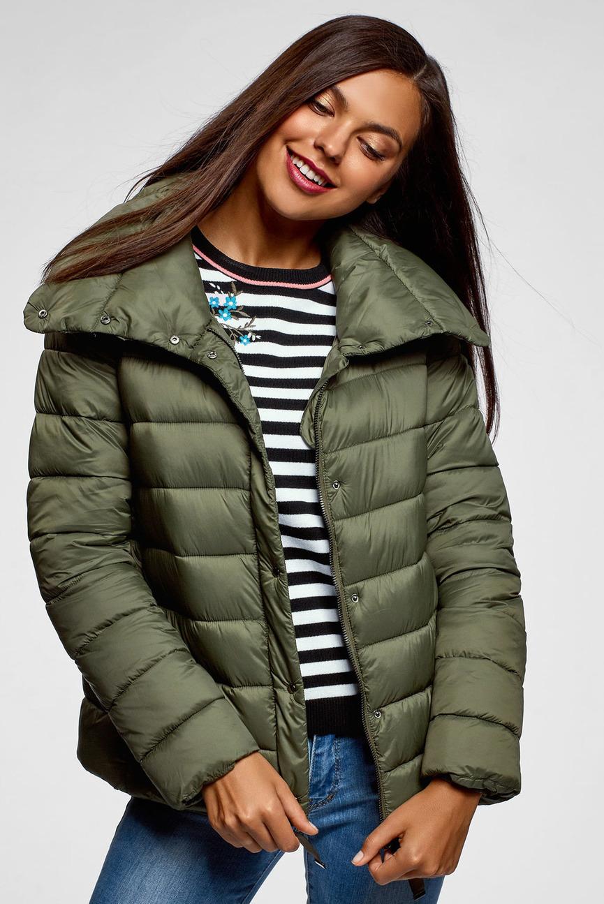 Женская оливковая куртка