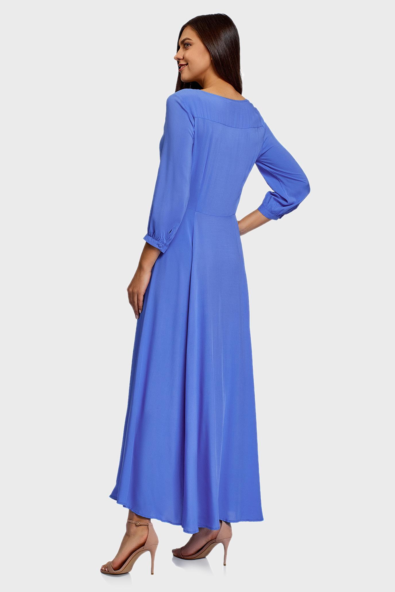 Женское синее платье Oodji