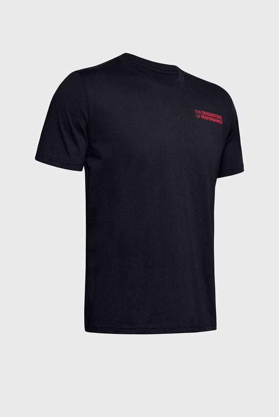 Мужская черная футболка UA ORIGINATORS OF PERFORMANCE SS-BLK