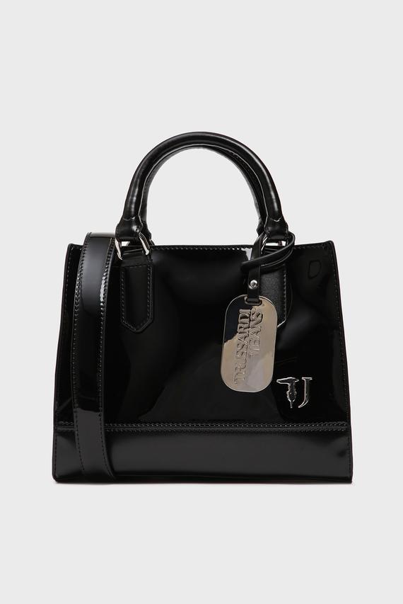 Женская черная лаковая сумка T-EASY CITY PATENT