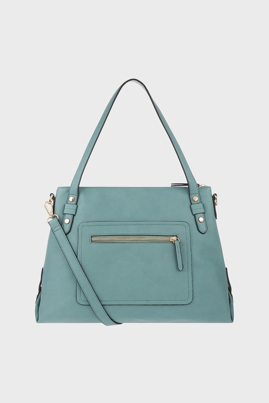 Женская бирюзовая сумка через плечо ALI ZIP SHOULDER