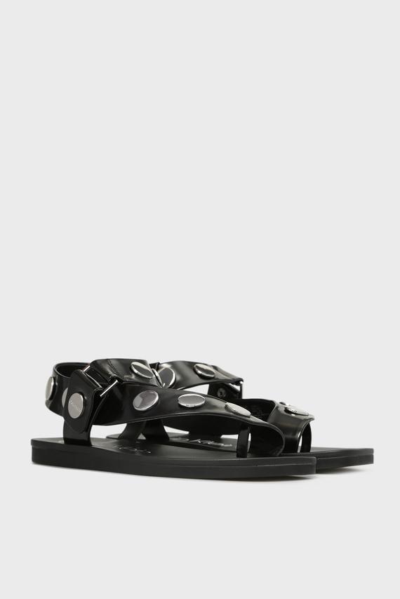 Женские черные сандалии ROCSI BOX SMOOTH