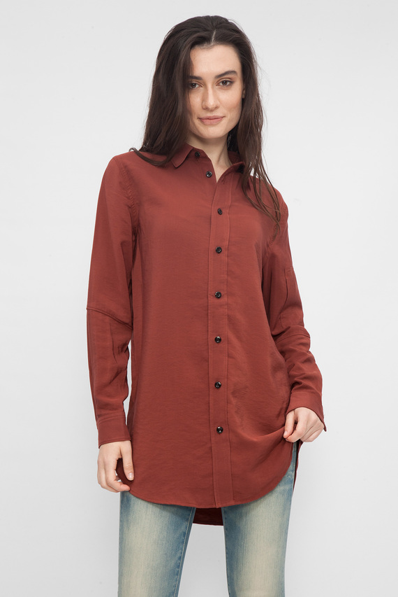 Женская коричневая рубашка