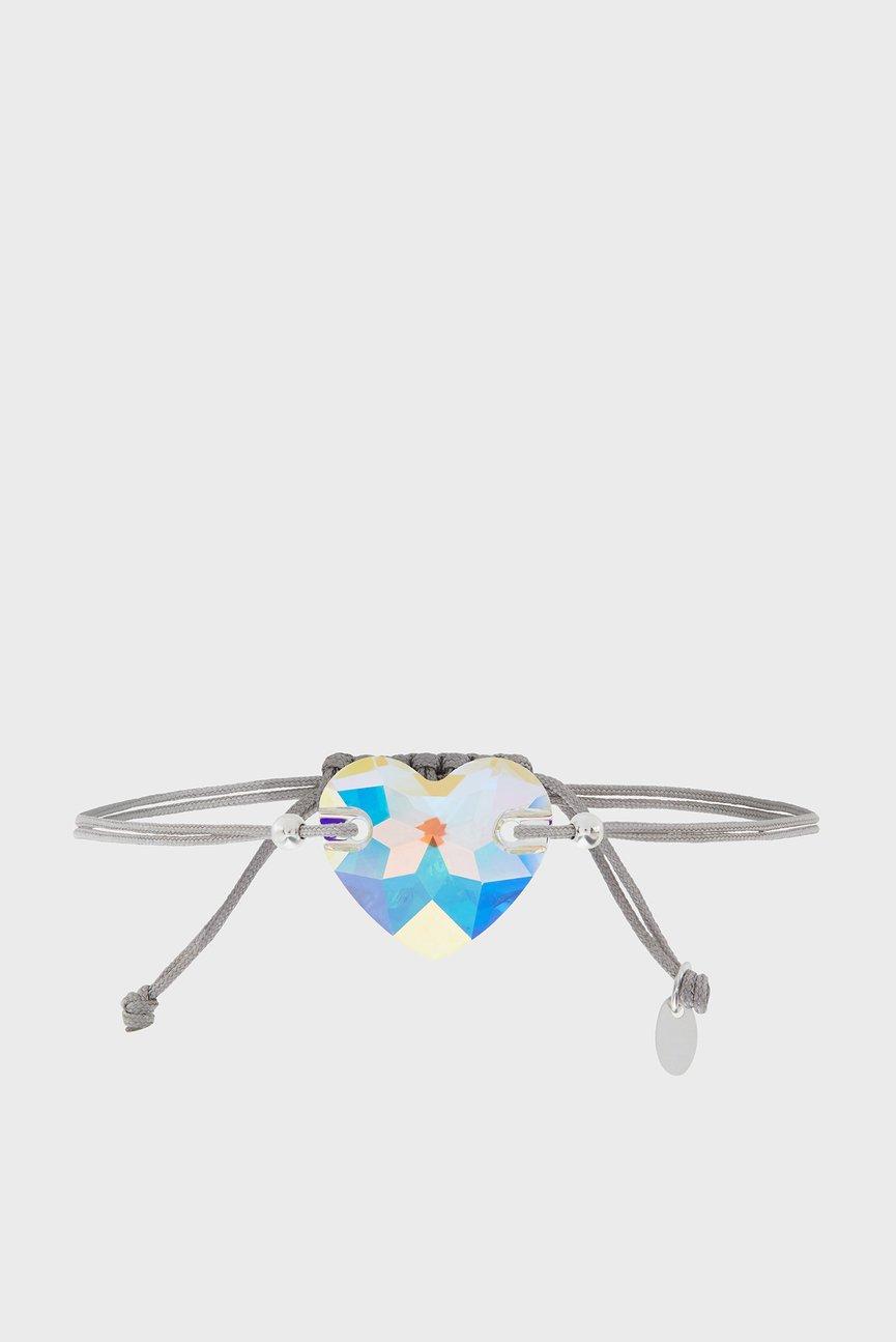Женский серый браслет ST SWAROVSKI HEART B