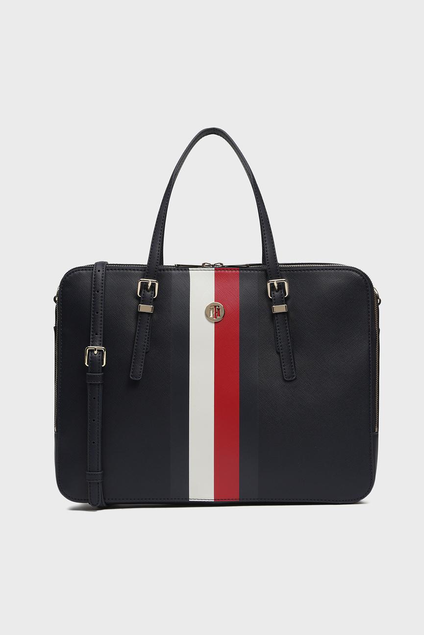 Женская темно-синяя сумка для ноутбука HONEY