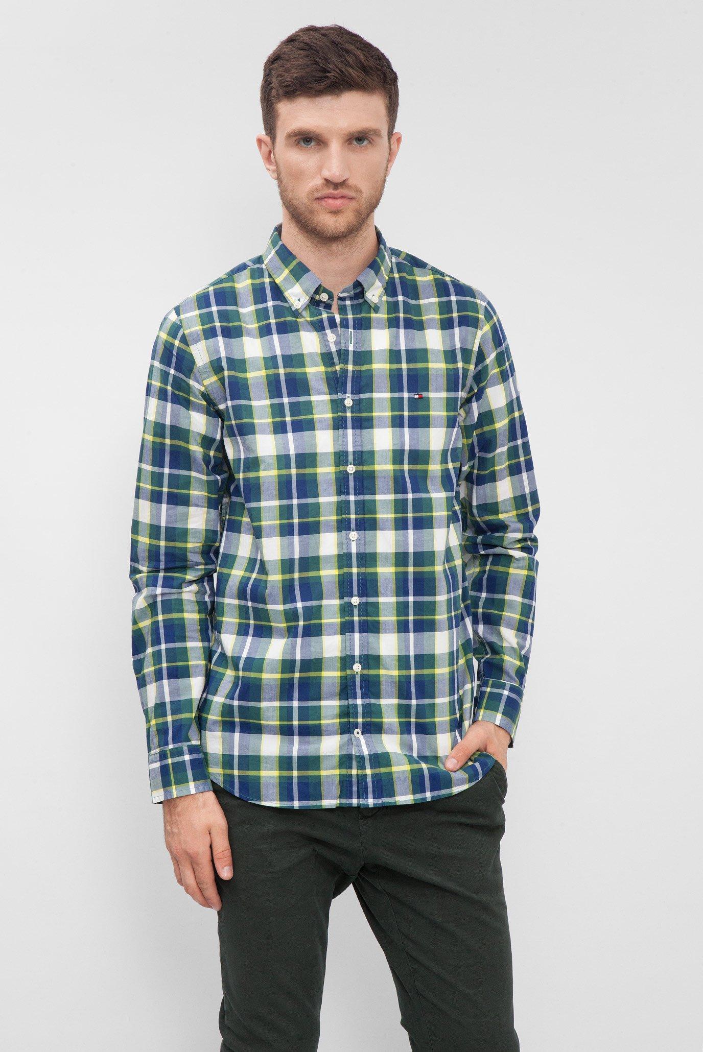 64663b711c4 Купить Мужская рубашка в клетку Tommy Hilfiger Tommy Hilfiger MW0MW02935 –  Киев