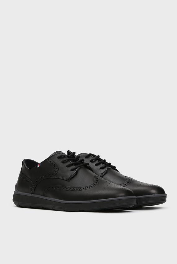 Мужские черные кожаные броги LIGHWEIGHT