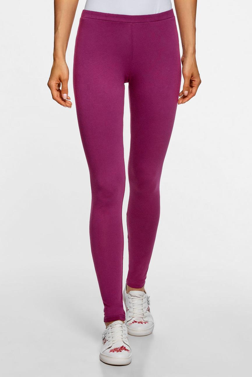 Женские фиолетовые леггинсы